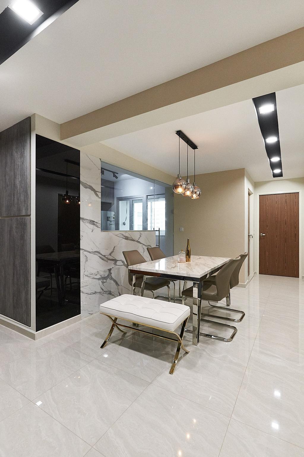 Modern, HDB, Dining Room, Rivervale Crescent, Interior Designer, JC.M Interior