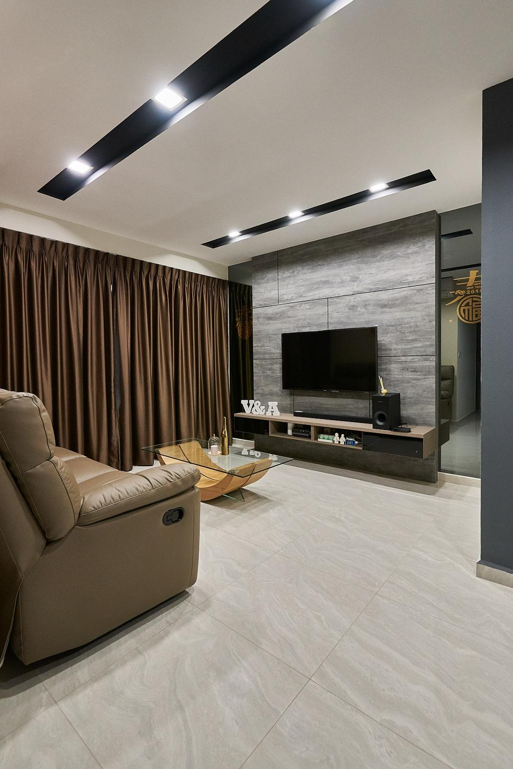 Modern, HDB, Living Room, Rivervale Crescent, Interior Designer, JC.M Interior
