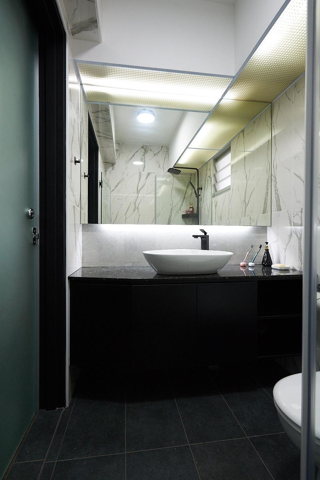 Modern, HDB, Bathroom, Rivervale Crescent, Interior Designer, JC.M Interior