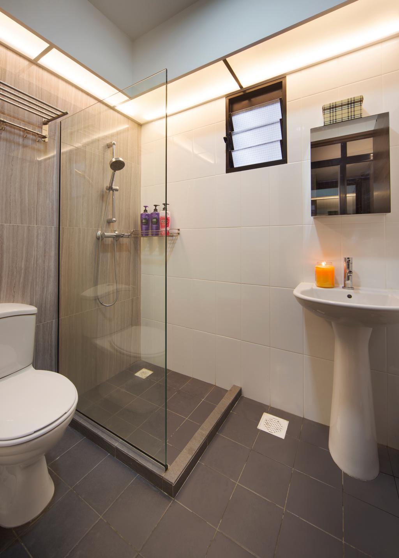 Contemporary, HDB, Bathroom, Clementi Avenue, Interior Designer, JC.M Interior