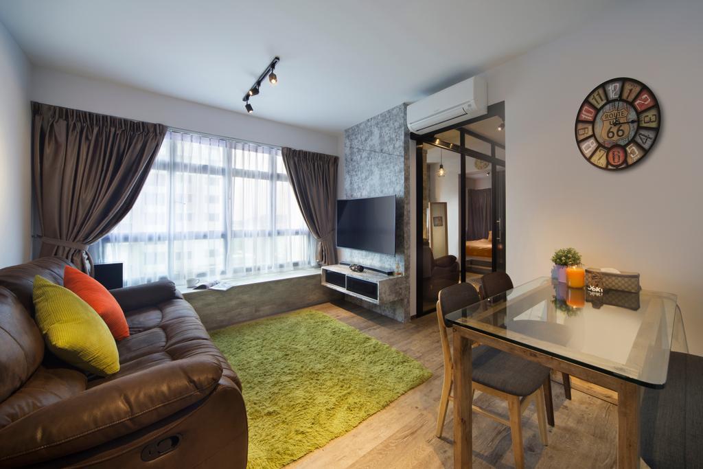 Contemporary, HDB, Living Room, Clementi Avenue, Interior Designer, JC.M Interior