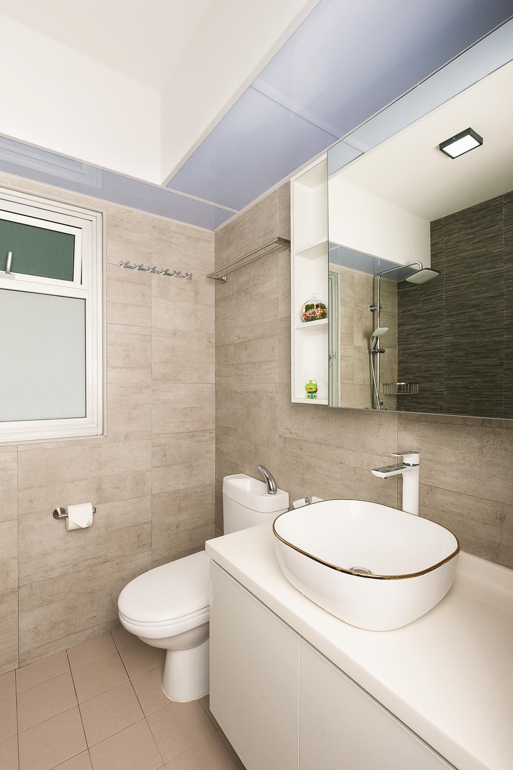 Modern, HDB, Bathroom, Canberra Walk, Interior Designer, JC.M Interior