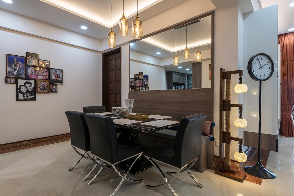 Condo, Dining Room, Pebble Bay, Interior Designer, Glamour Concept
