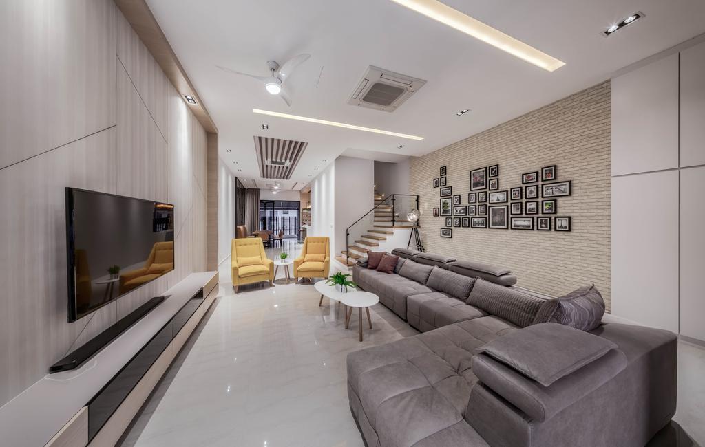 Modern, Landed, Living Room, Eng Kong Road, Interior Designer, Weiken.com, Contemporary