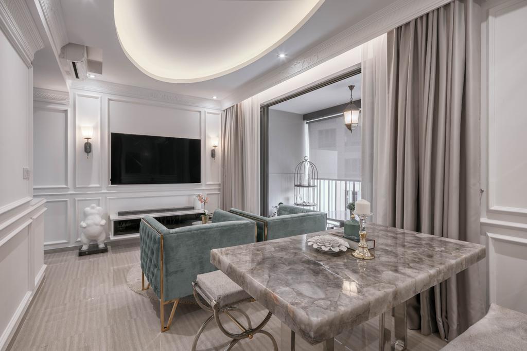 Modern, Condo, Dining Room, The Brownstone, Interior Designer, Weiken.com