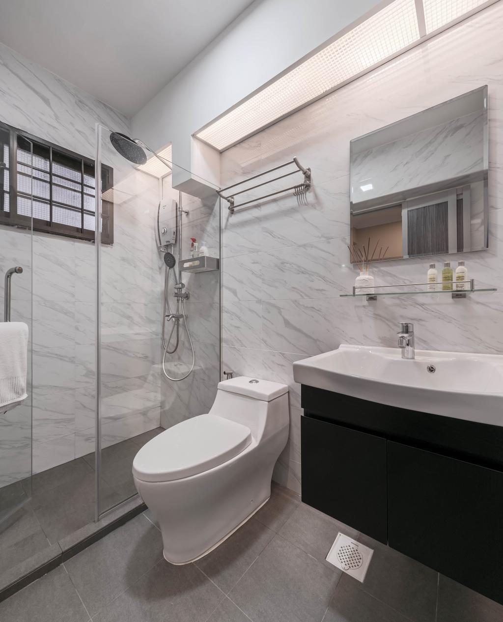 Modern, HDB, Bathroom, Jurong East Street 65, Interior Designer, Weiken.com