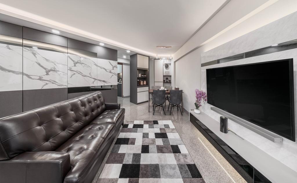 Modern, HDB, Living Room, Jurong East Street 65, Interior Designer, Weiken.com