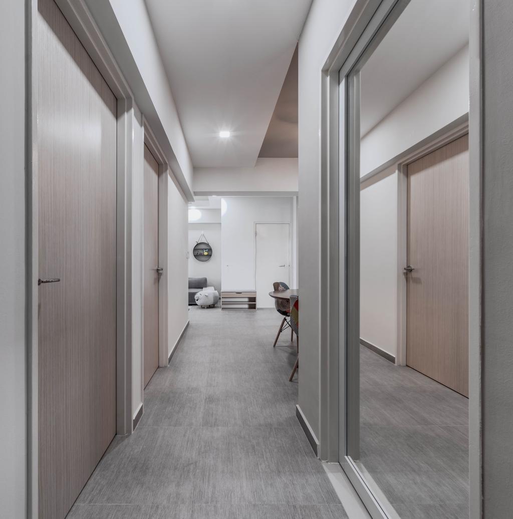 Modern, HDB, Fernvale Link, Interior Designer, Weiken.com