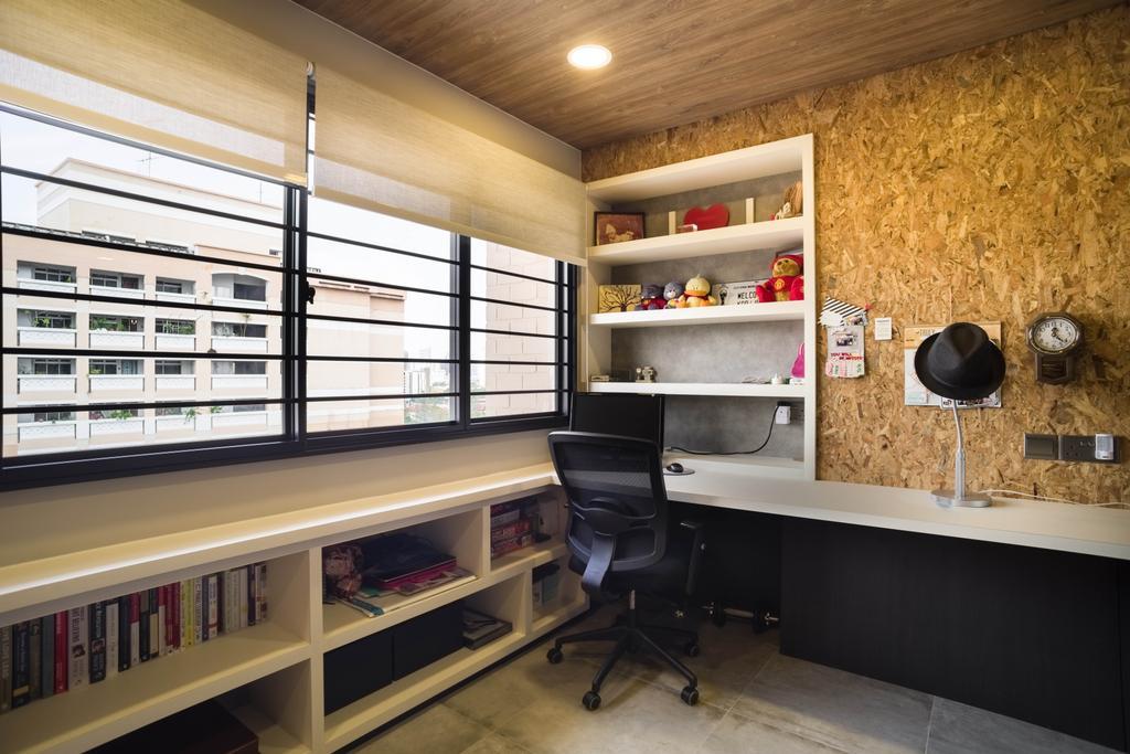 Contemporary, HDB, Study, Whampoa Road, Interior Designer, Urban Habitat Design