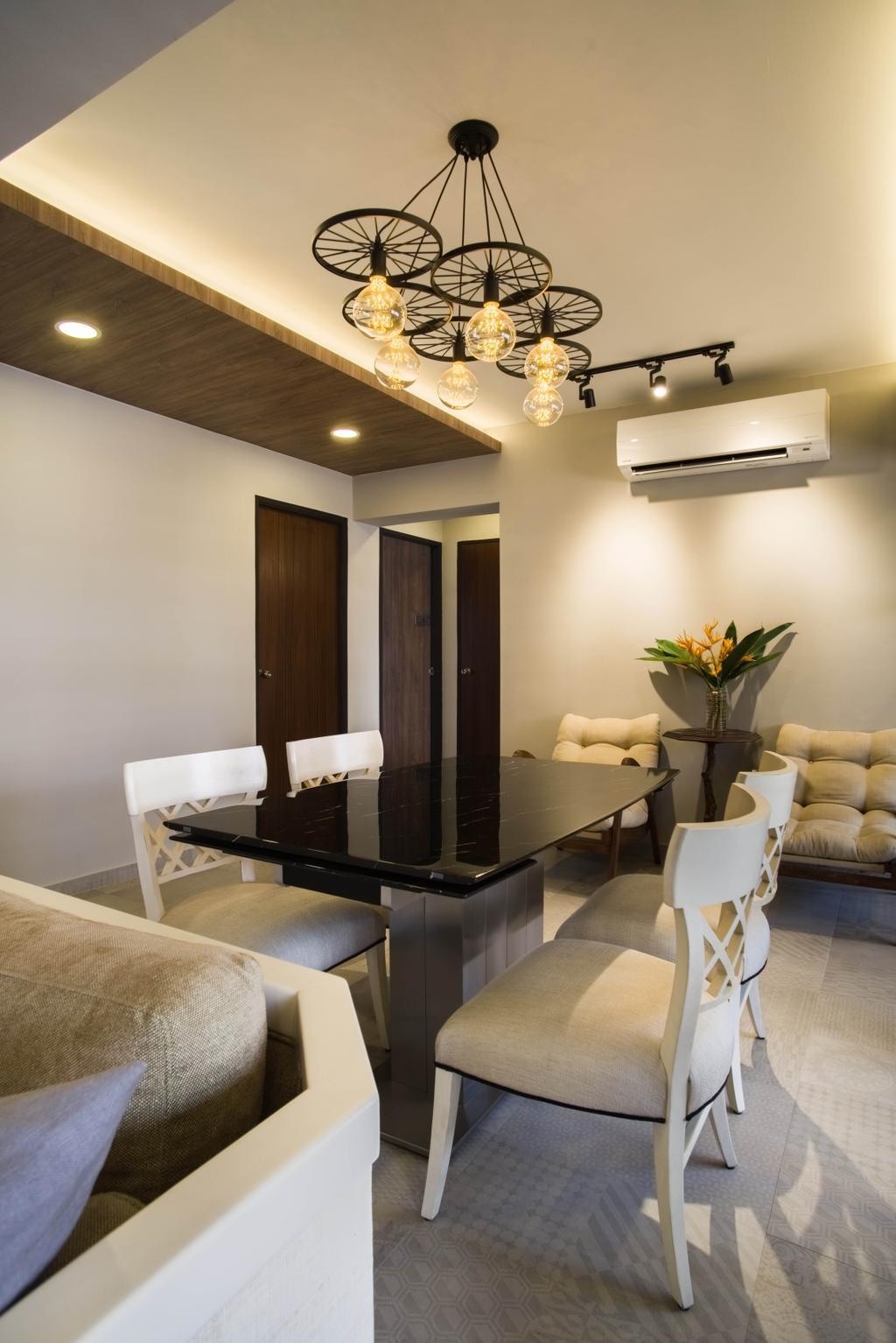 Contemporary, HDB, Dining Room, Whampoa Road, Interior Designer, Urban Habitat Design