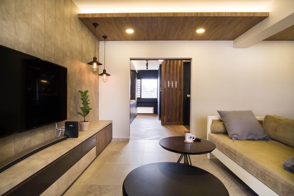 Contemporary, HDB, Living Room, Whampoa Road, Interior Designer, Urban Habitat Design
