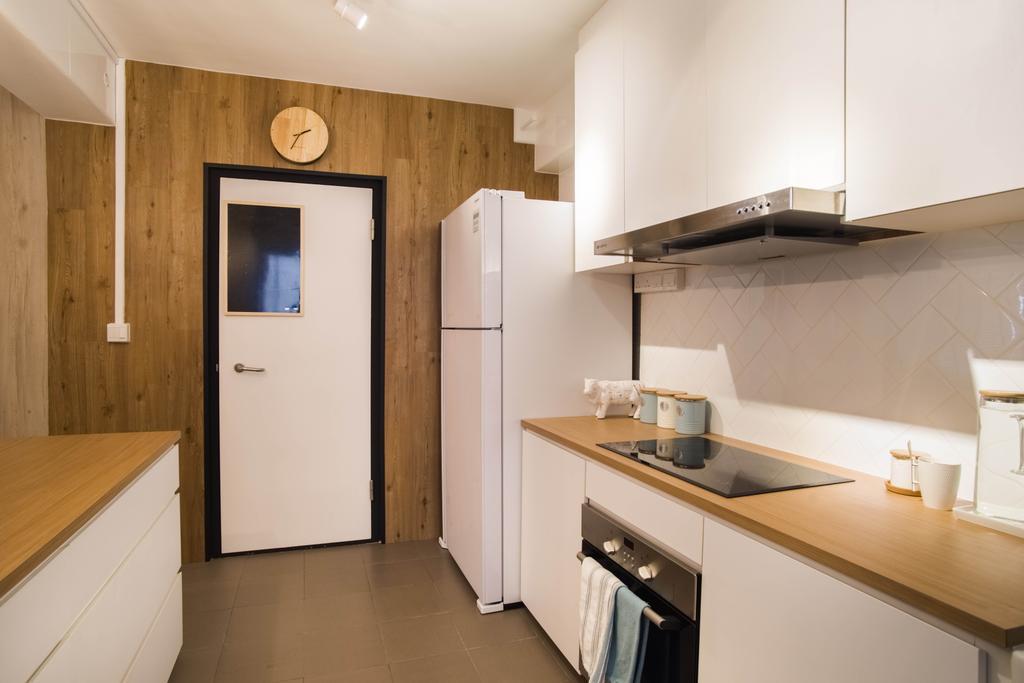 Scandinavian, HDB, Kitchen, Canberra Street, Interior Designer, Urban Habitat Design