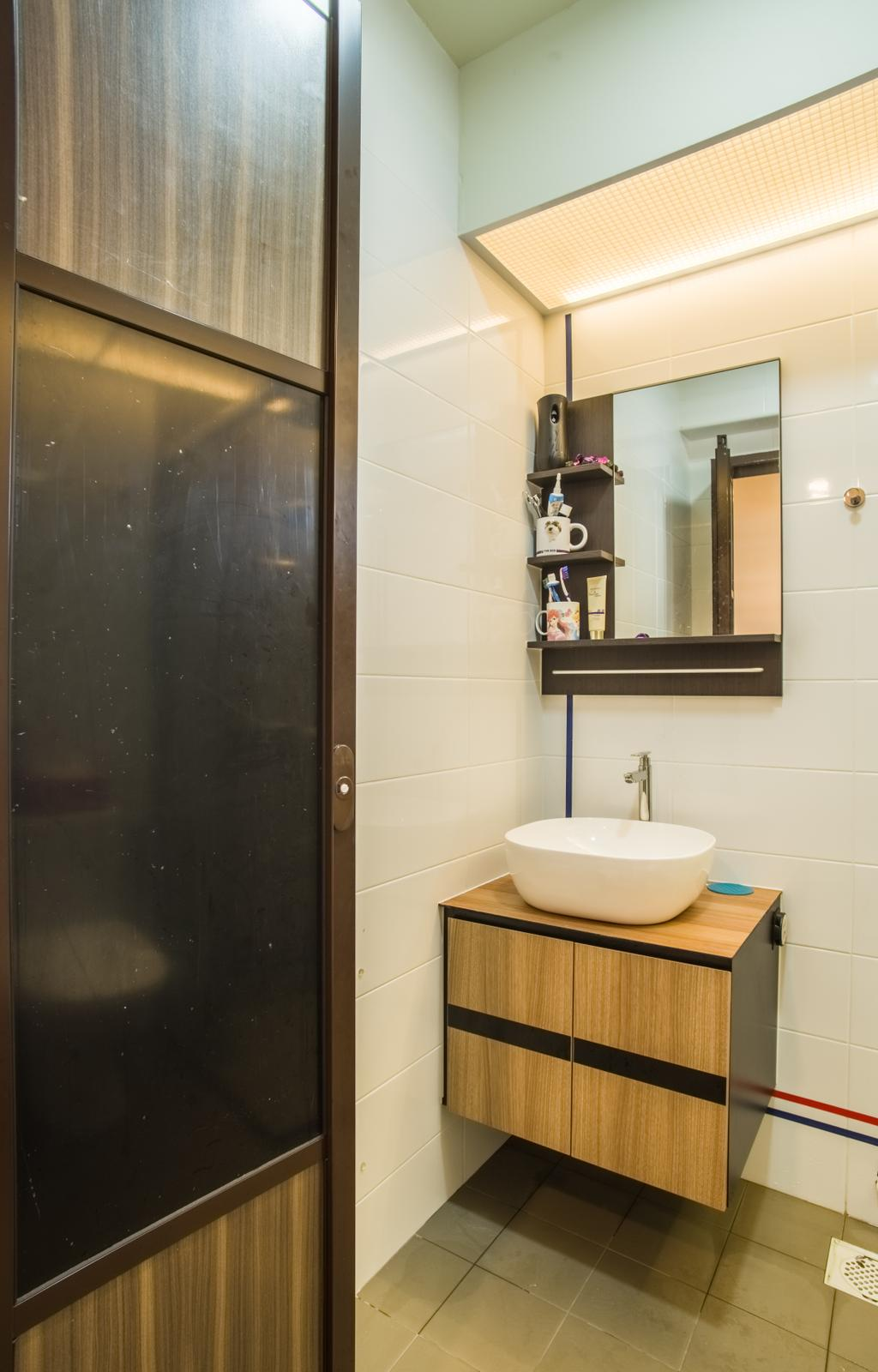 Contemporary, HDB, Bathroom, Compassvale Link, Interior Designer, Urban Habitat Design