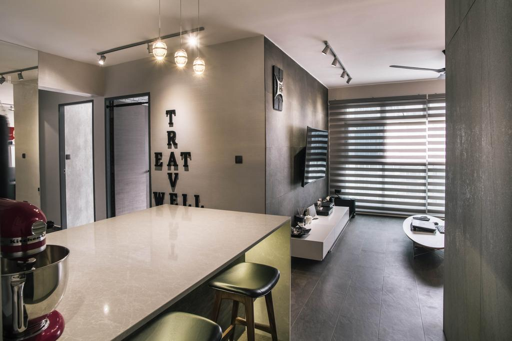 Contemporary, HDB, Dining Room, Compassvale Link, Interior Designer, Urban Habitat Design