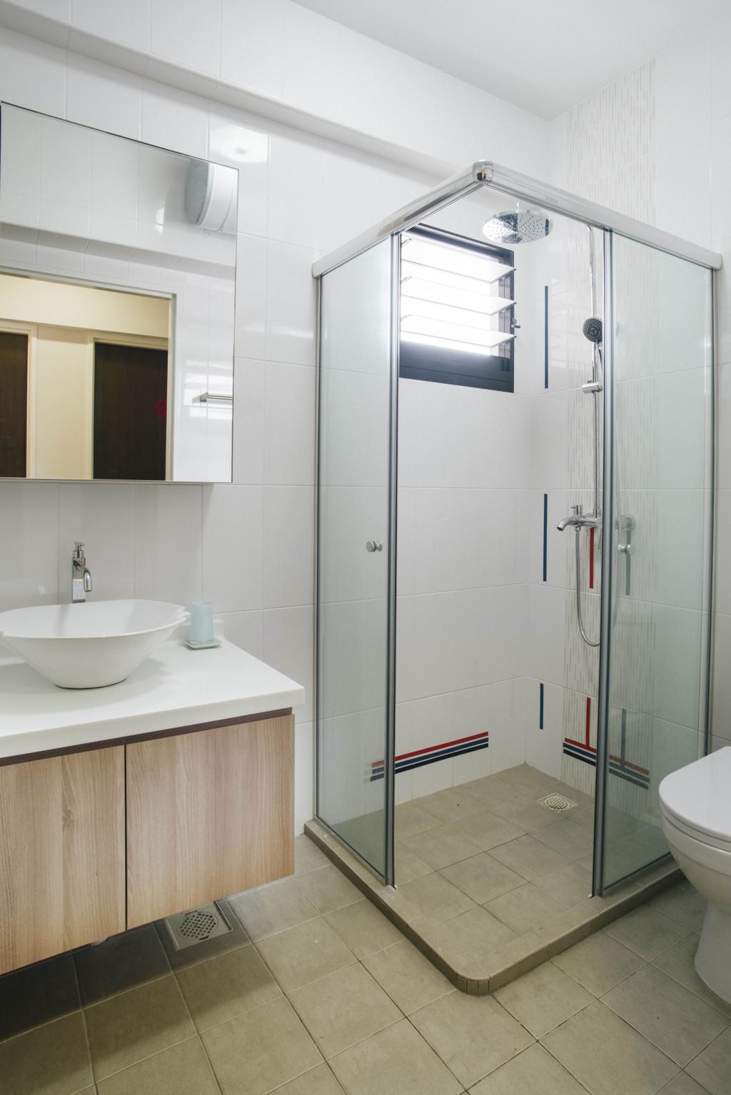 Modern, HDB, Bathroom, Yishun Avenue 4, Interior Designer, Urban Habitat Design