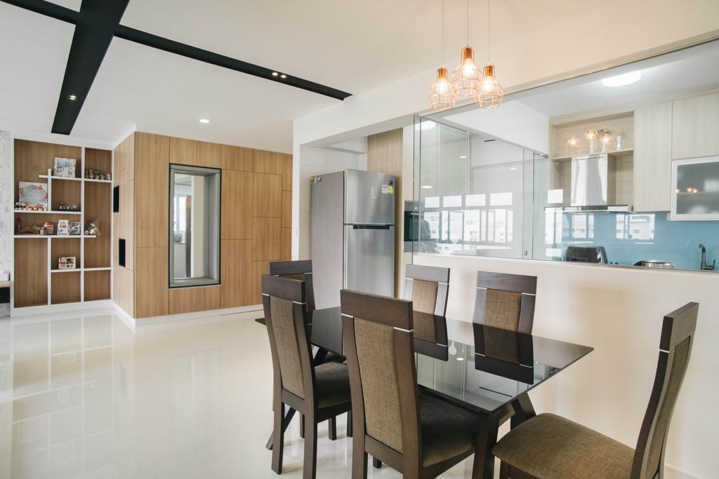 Modern, HDB, Dining Room, Yishun Avenue 4, Interior Designer, Urban Habitat Design