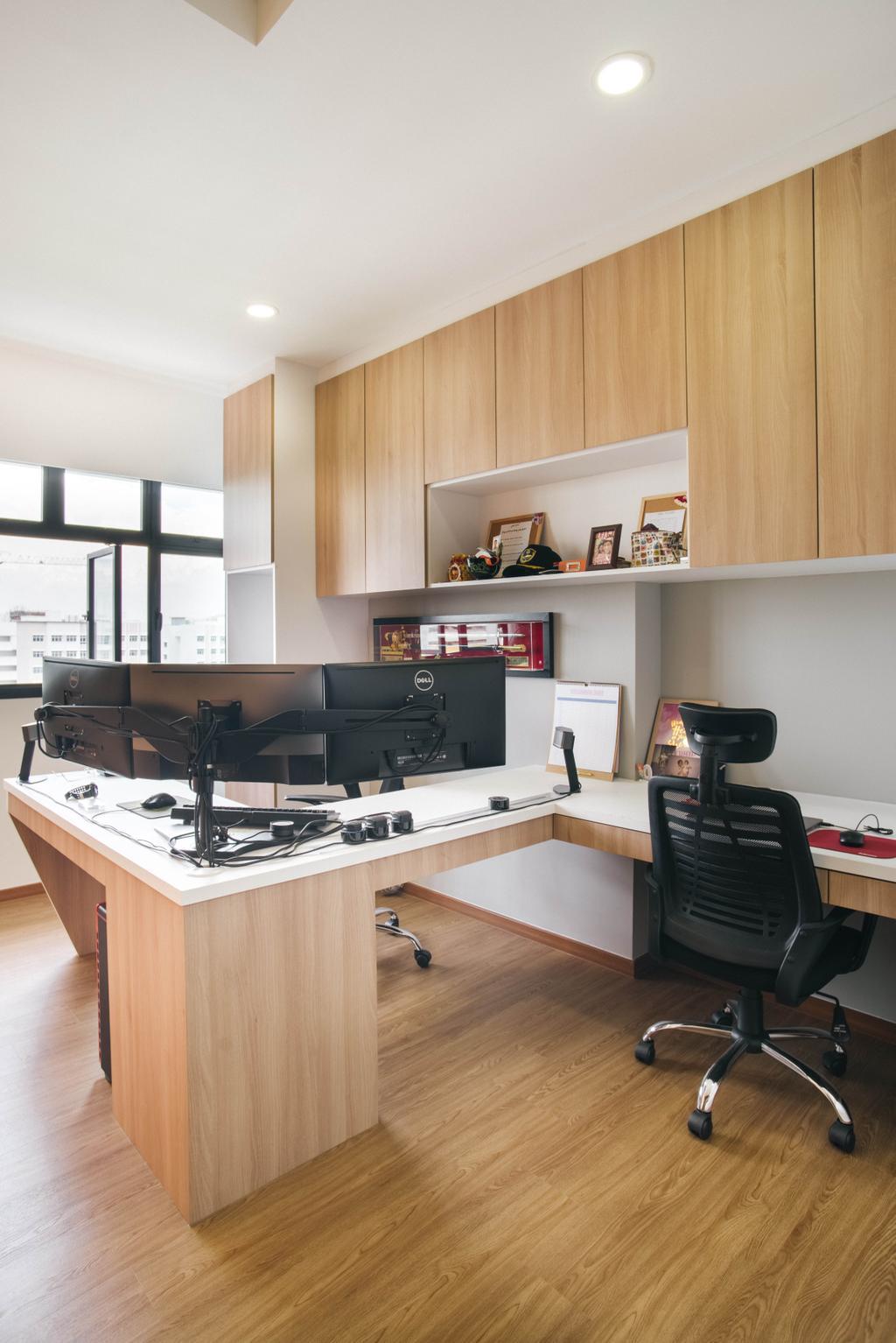 Modern, HDB, Study, Yishun Avenue 4, Interior Designer, Urban Habitat Design