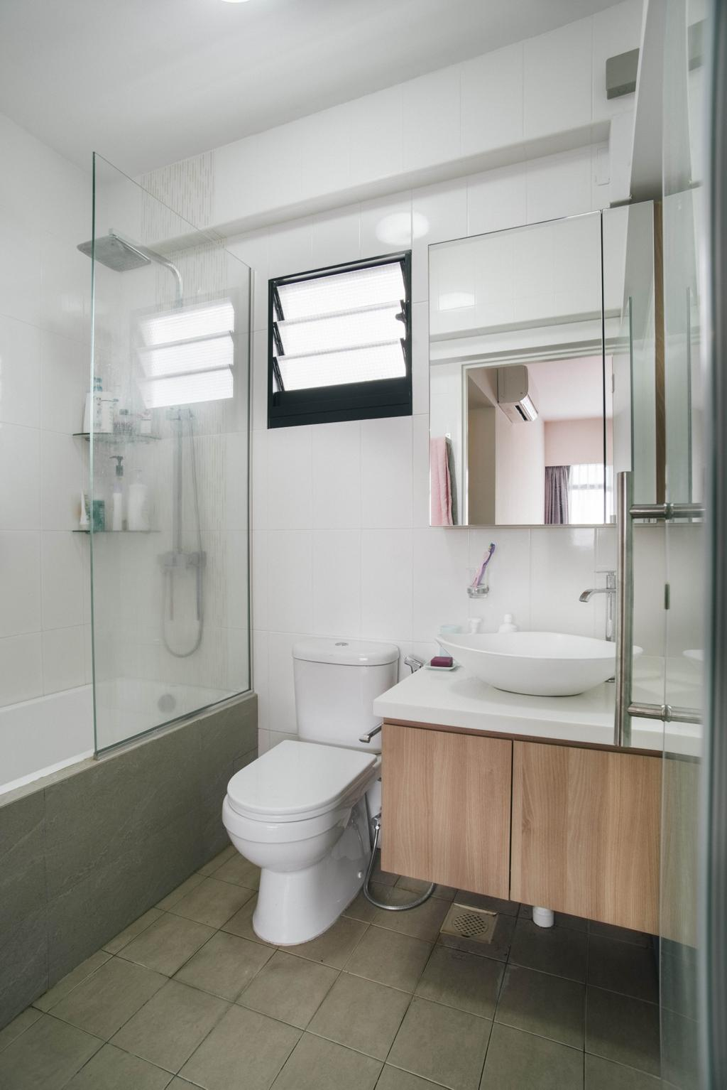 Modern, HDB, Bathroom, Yishun Avenue 4, Interior Designer, Urban Habitat Design
