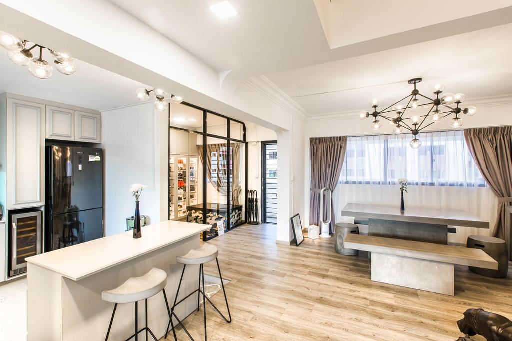 Modern, HDB, Kitchen, Hougang Avenue 2, Interior Designer, Urban Habitat Design