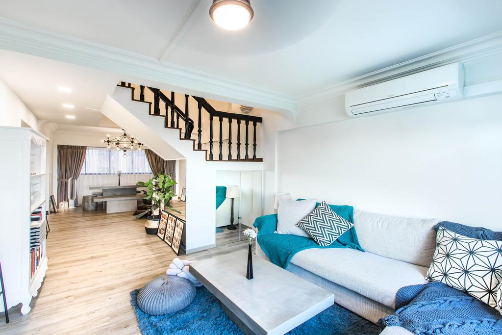 Modern, HDB, Living Room, Hougang Avenue 2, Interior Designer, Urban Habitat Design