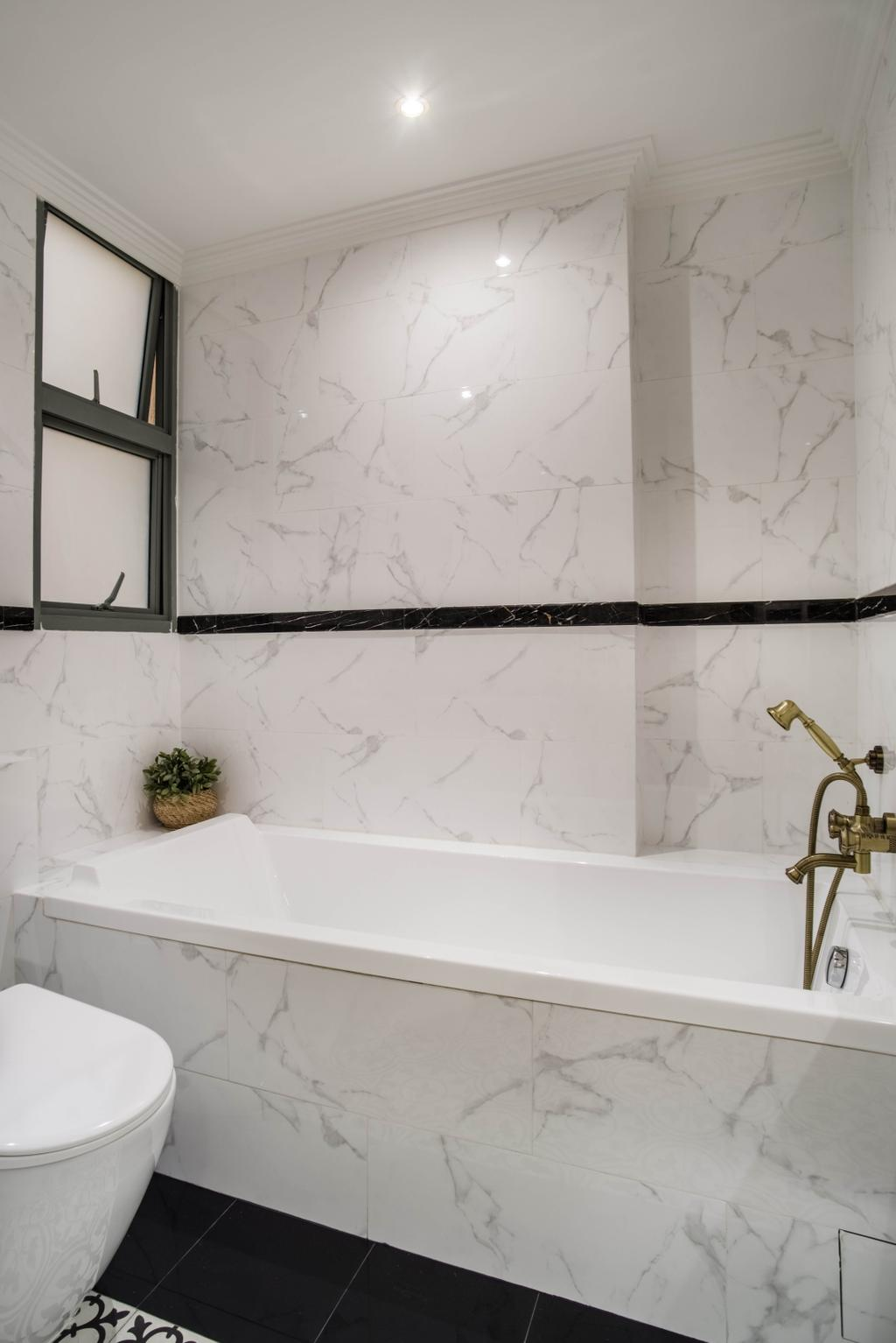 Modern, Condo, Bathroom, Aspen Heights, Interior Designer, Urban Habitat Design, Bathtub, Bath Tub