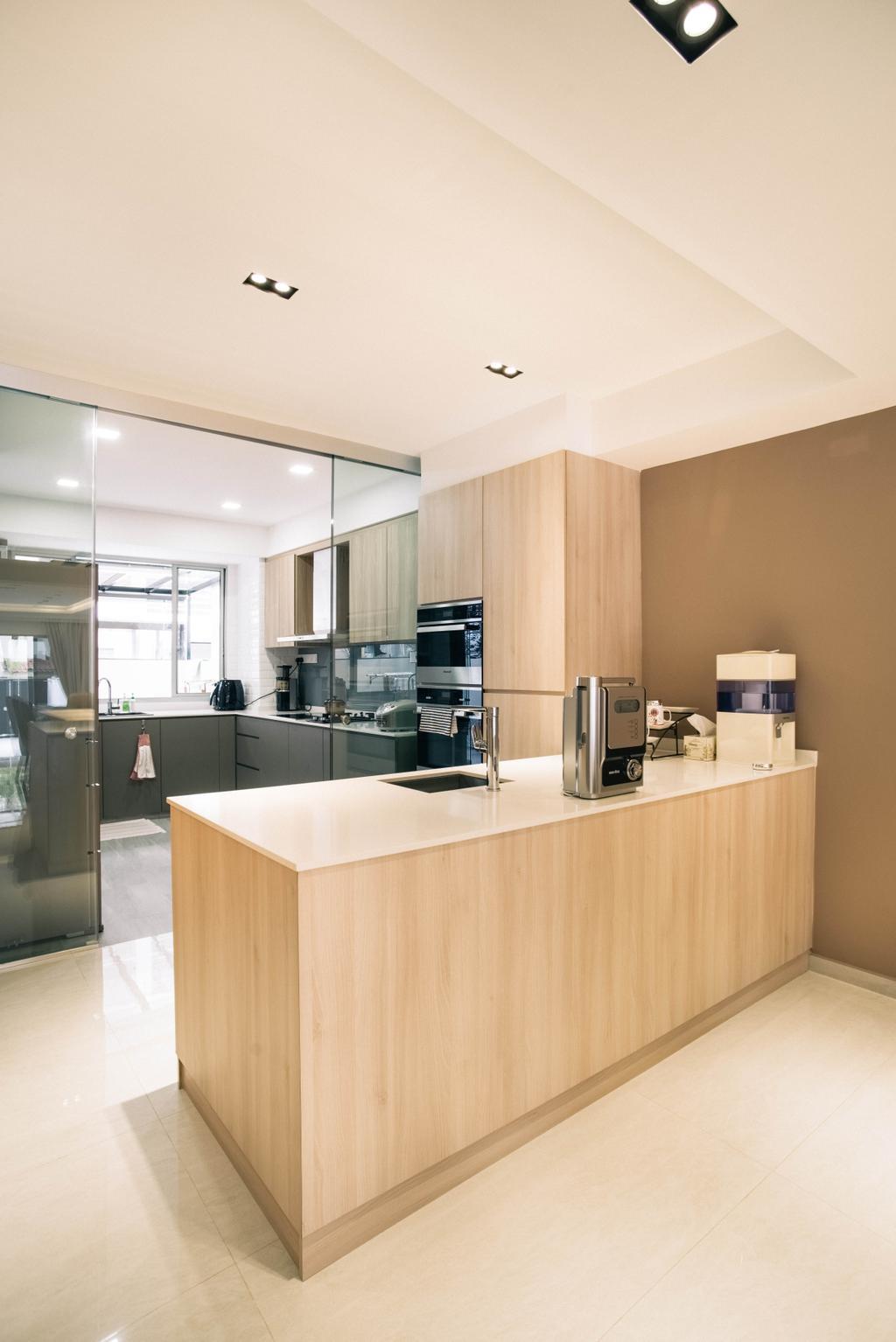 Modern, Landed, Kitchen, Chuan View, Interior Designer, Urban Habitat Design