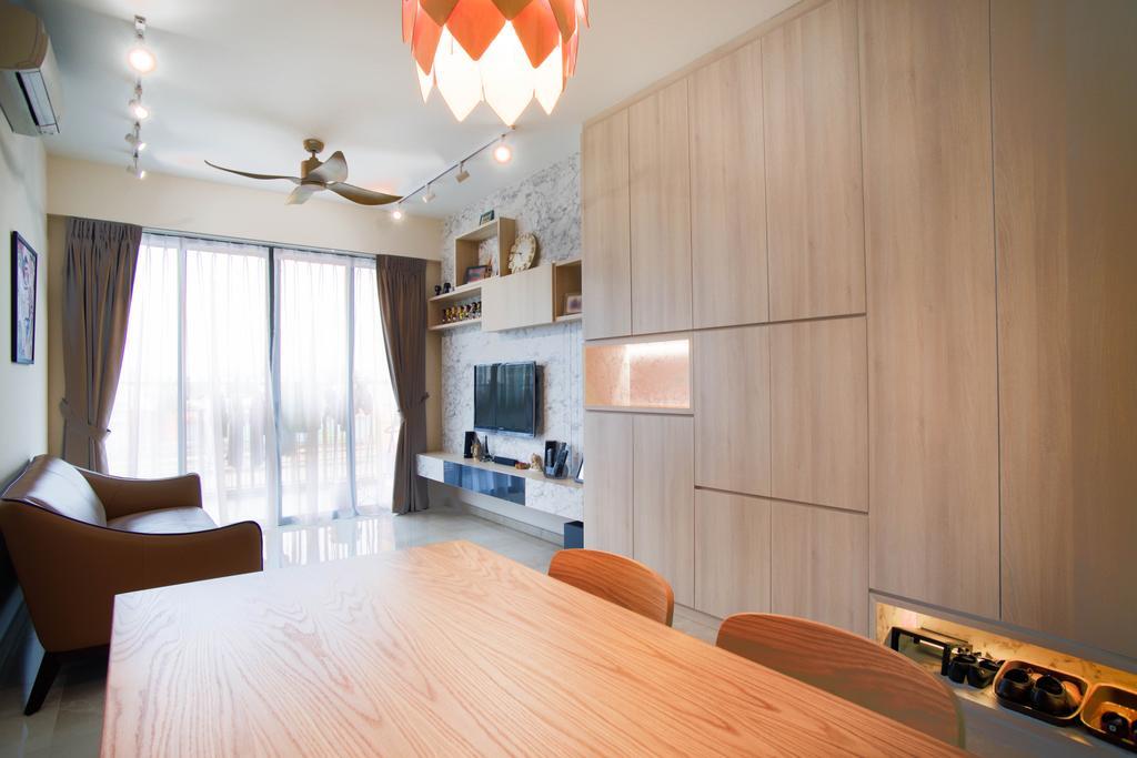 Minimalist, Condo, Dining Room, The Glades, Interior Designer, Urban Habitat Design