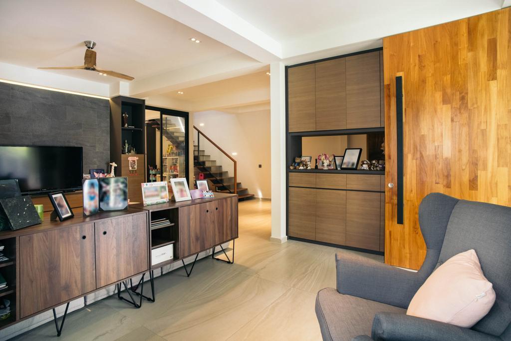 Contemporary, Landed, Living Room, Jalan Gaharu, Interior Designer, Urban Habitat Design