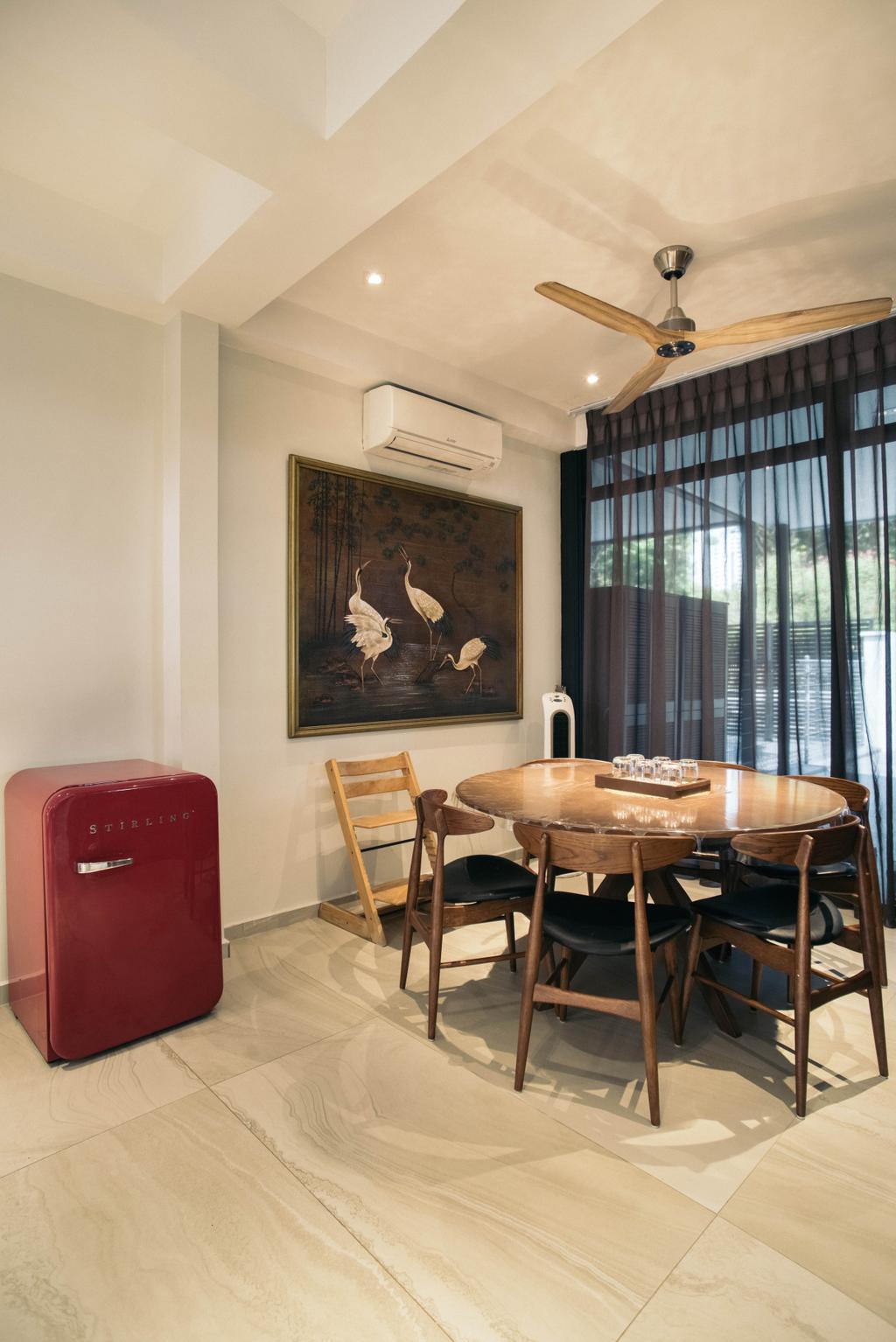 Contemporary, Landed, Dining Room, Jalan Gaharu, Interior Designer, Urban Habitat Design