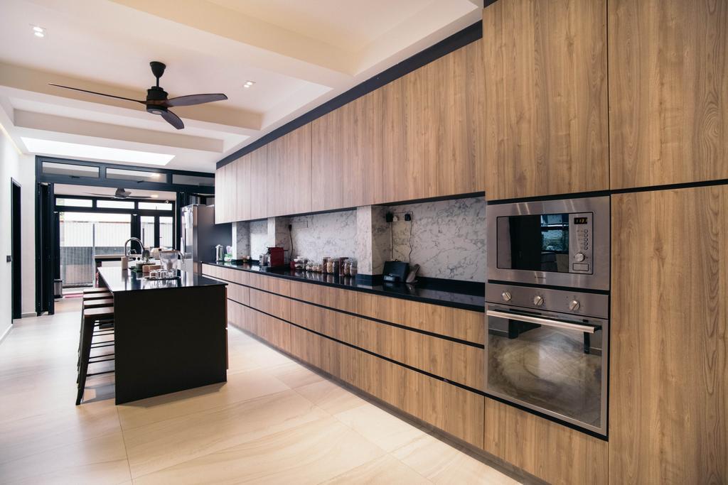 Contemporary, Landed, Kitchen, Jalan Gaharu, Interior Designer, Urban Habitat Design