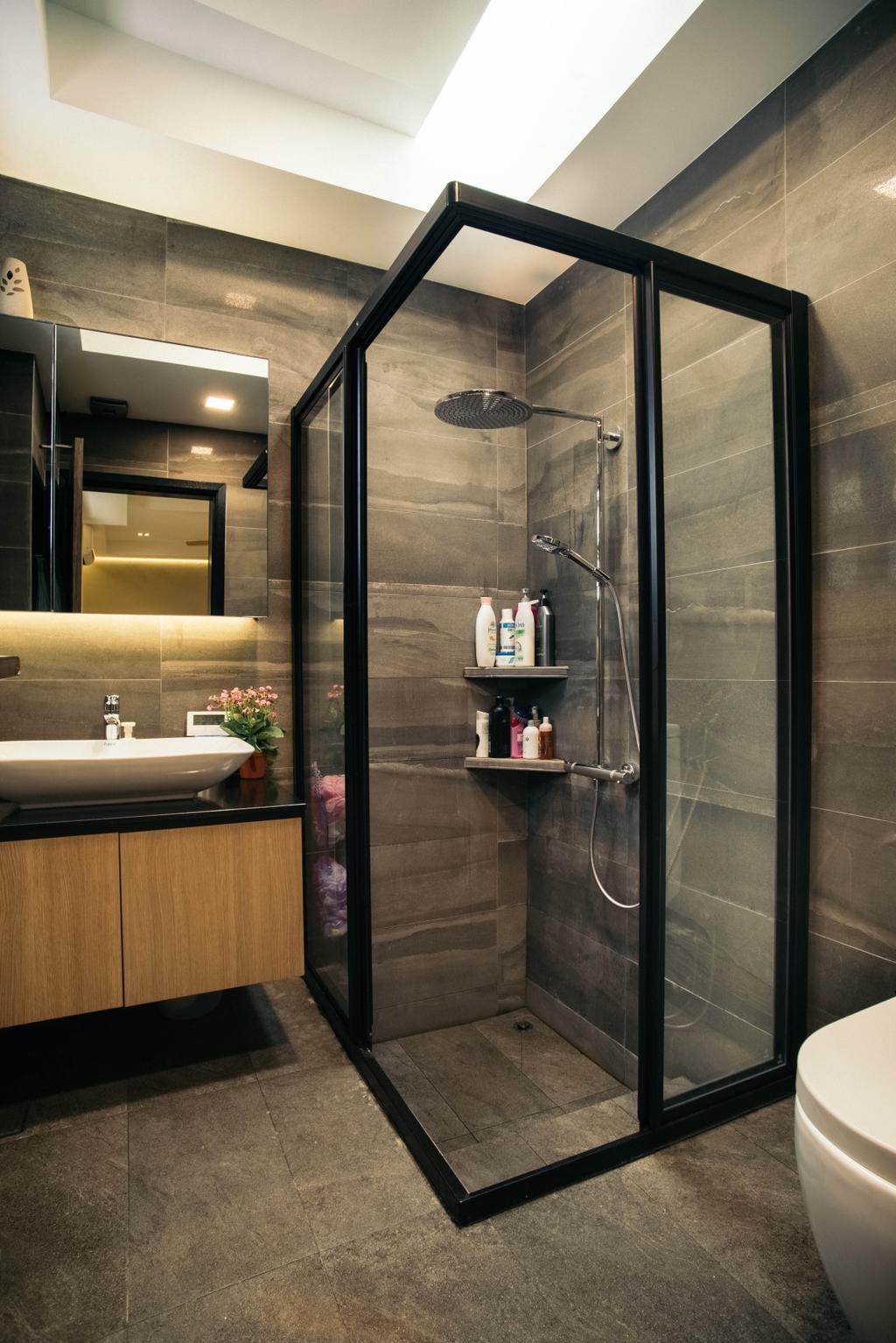 Contemporary, Landed, Bathroom, Jalan Gaharu, Interior Designer, Urban Habitat Design