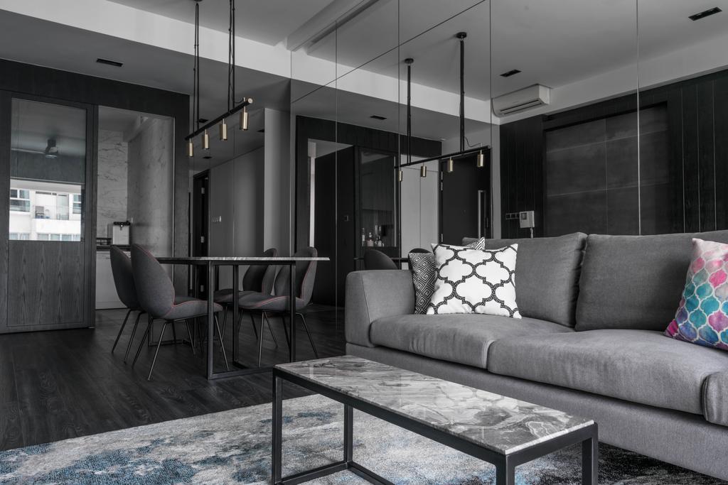 Contemporary, Condo, Living Room, Tierra Vue, Interior Designer, Habit