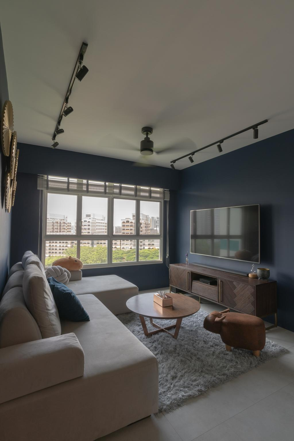 Eclectic, HDB, Living Room, Lorong Limau, Interior Designer, Chapter One Interior Design