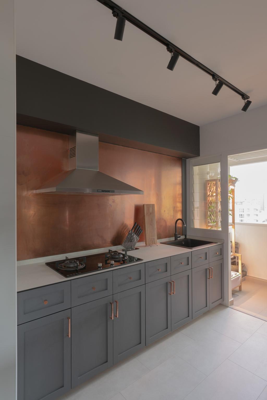 Eclectic, HDB, Kitchen, Lorong Limau, Interior Designer, Chapter One Interior Design