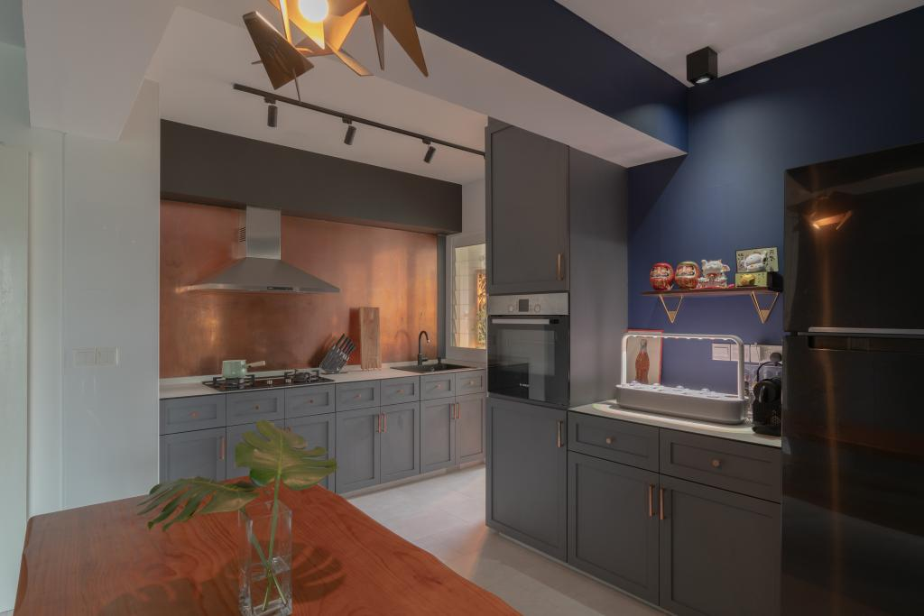 Eclectic, HDB, Dining Room, Lorong Limau, Interior Designer, Chapter One Interior Design
