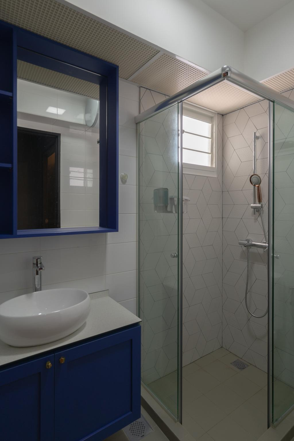 Eclectic, HDB, Bathroom, Lorong Limau, Interior Designer, Chapter One Interior Design