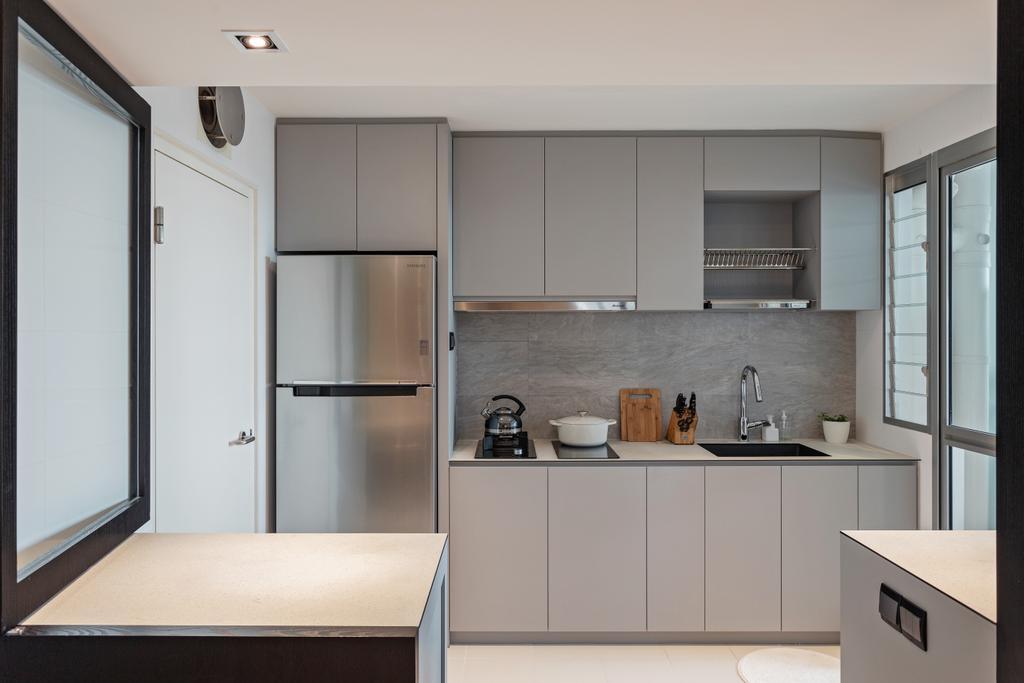 Scandinavian, HDB, Kitchen, Lorong 1 Toa Payoh, Interior Designer, Habit