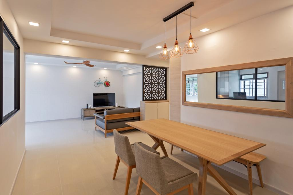 Scandinavian, HDB, Dining Room, Lompang Road, Interior Designer, Space Concepts Design