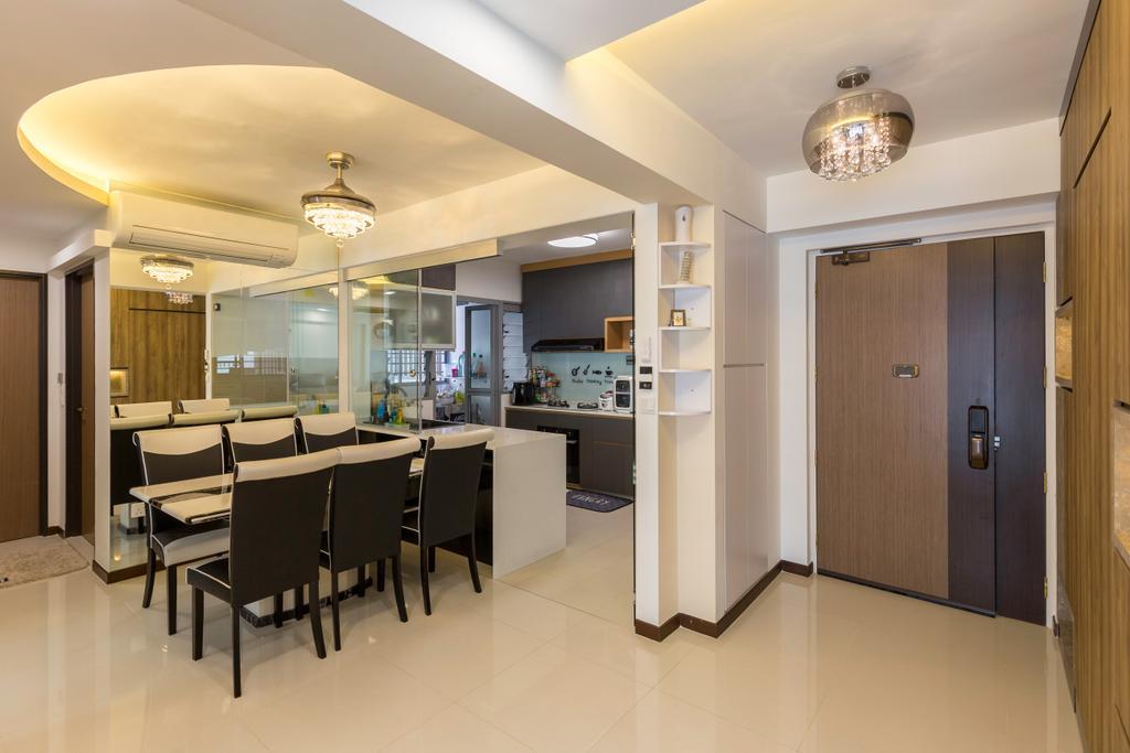 Transitional, HDB, Dining Room, Edgedale Plains, Interior Designer, M+L Associates