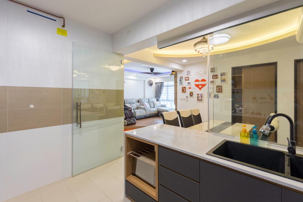 Transitional, HDB, Kitchen, Edgedale Plains, Interior Designer, M+L Associates