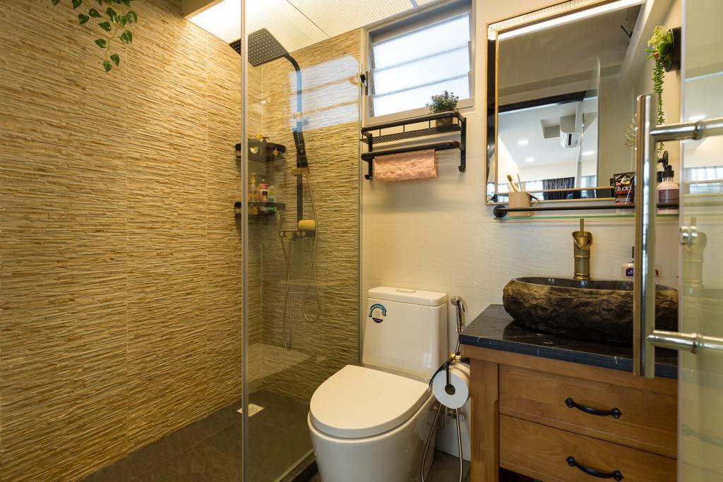 Transitional, HDB, Bathroom, Edgedale Plains, Interior Designer, M+L Associates