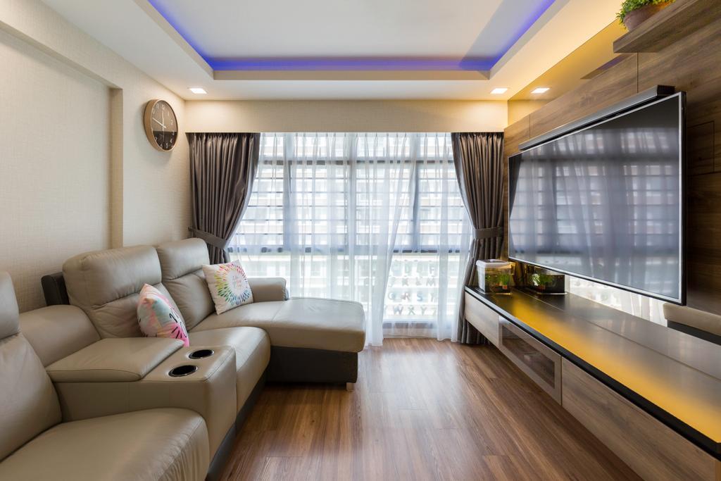 Transitional, HDB, Living Room, Edgedale Plains, Interior Designer, M+L Associates