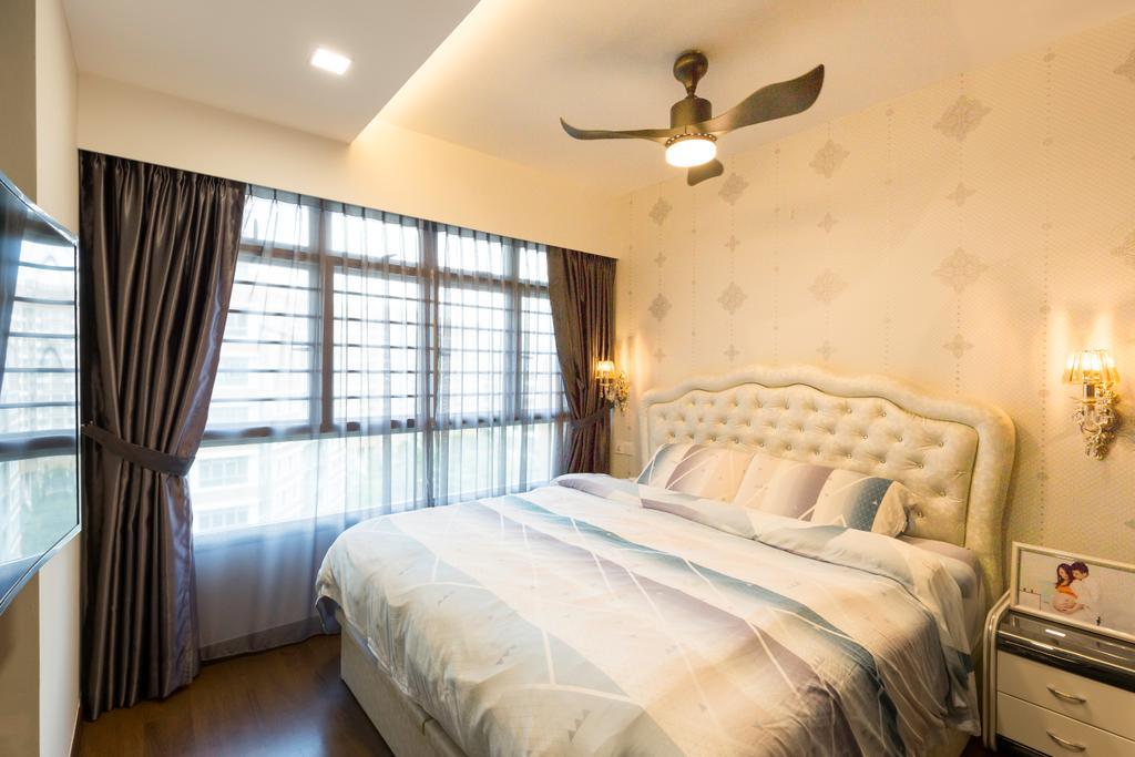Transitional, HDB, Bedroom, Edgedale Plains, Interior Designer, M+L Associates