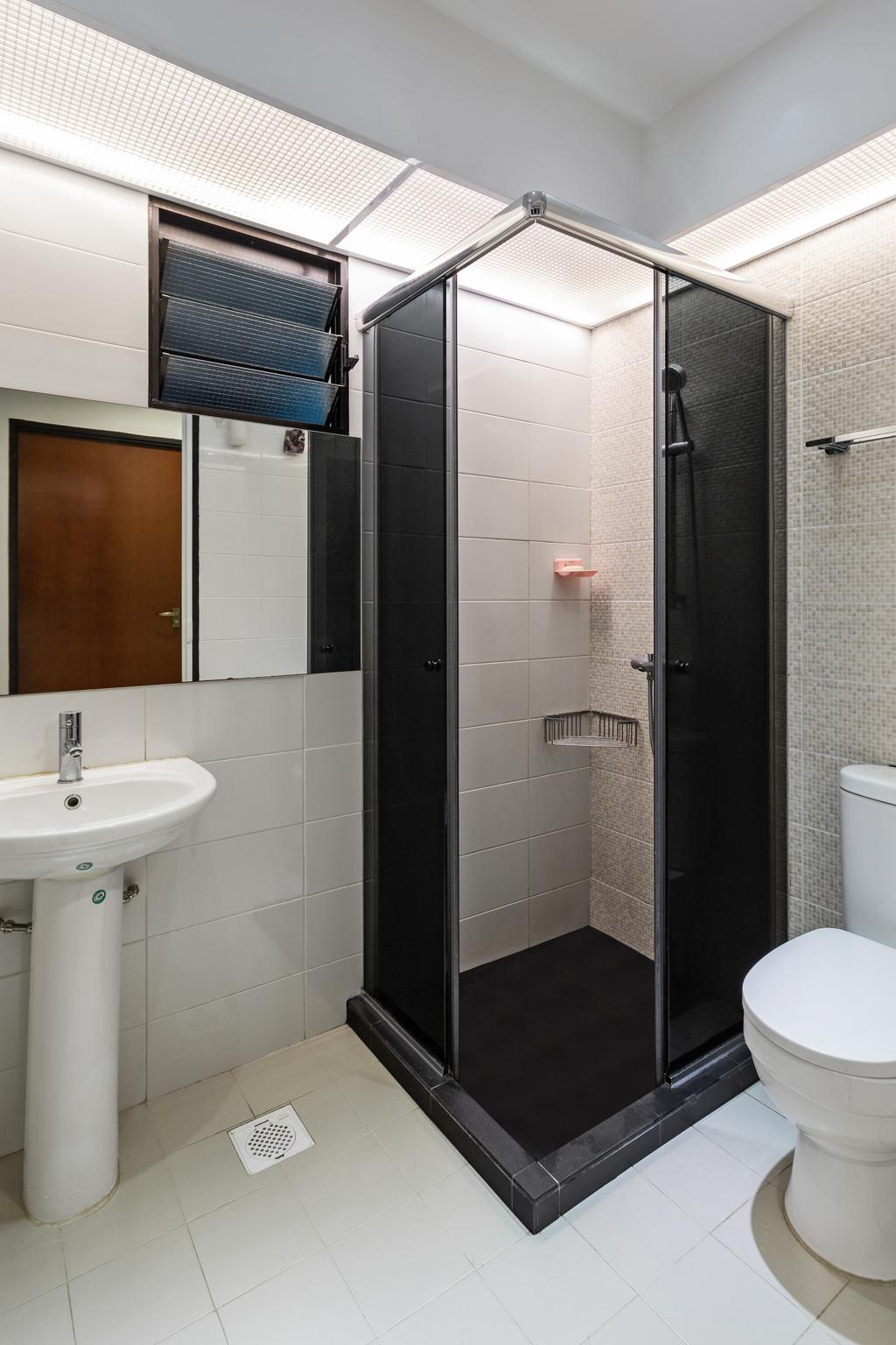 Modern, HDB, Bathroom, Keat Hong Link, Interior Designer, Hub One Builder