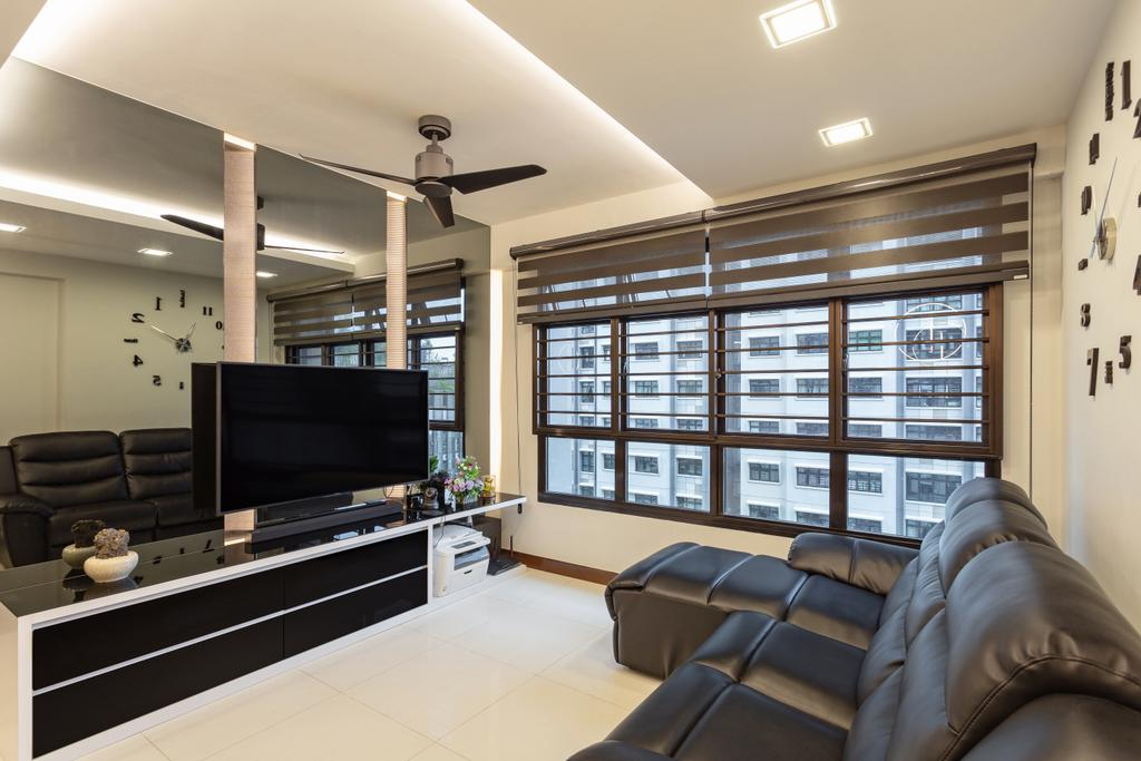 Modern, HDB, Living Room, Keat Hong Link, Interior Designer, Hub One Builder