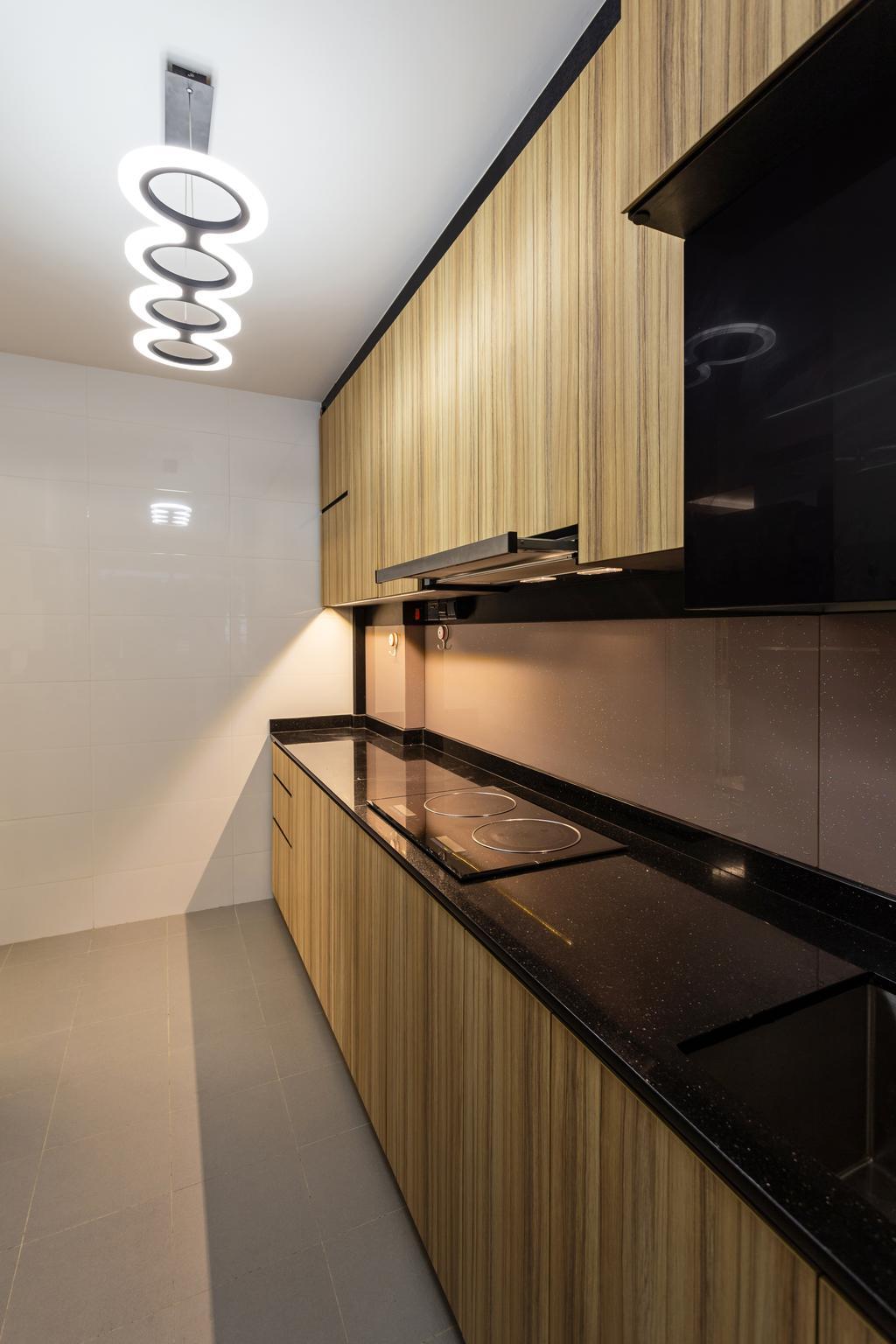 Modern, HDB, Kitchen, Keat Hong Link, Interior Designer, Hub One Builder