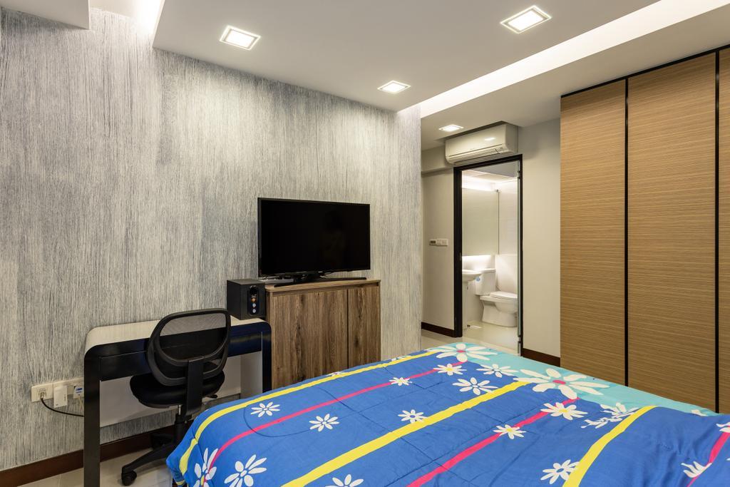 Modern, HDB, Bedroom, Keat Hong Link, Interior Designer, Hub One Builder