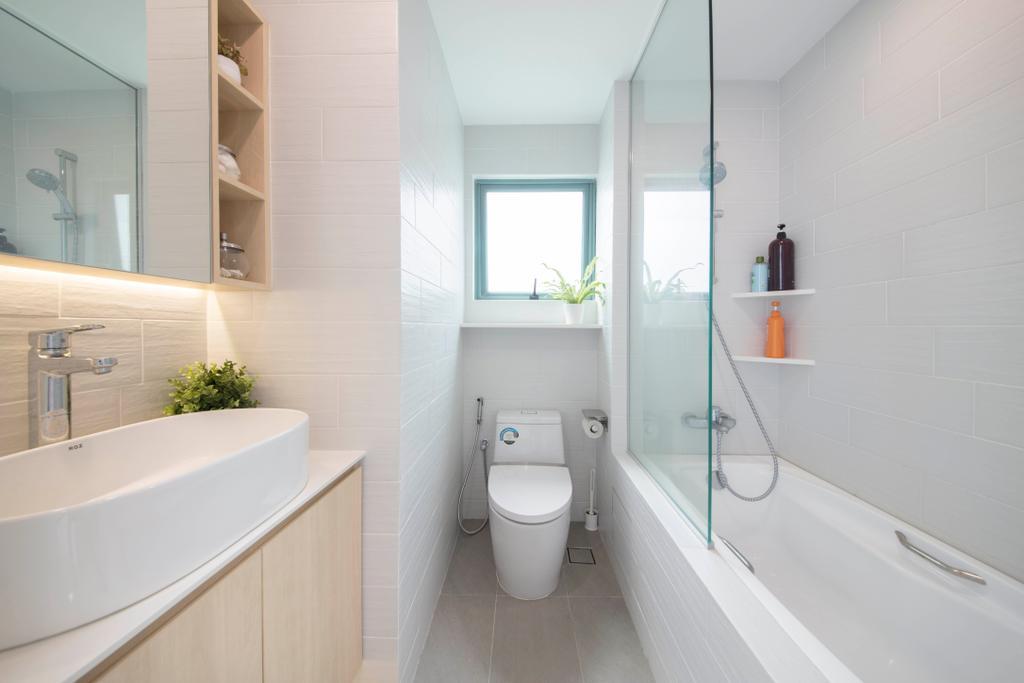 Scandinavian, Condo, Bathroom, Chantilly Rise, Interior Designer, The Roomakers, Bath Tub, Bathtub