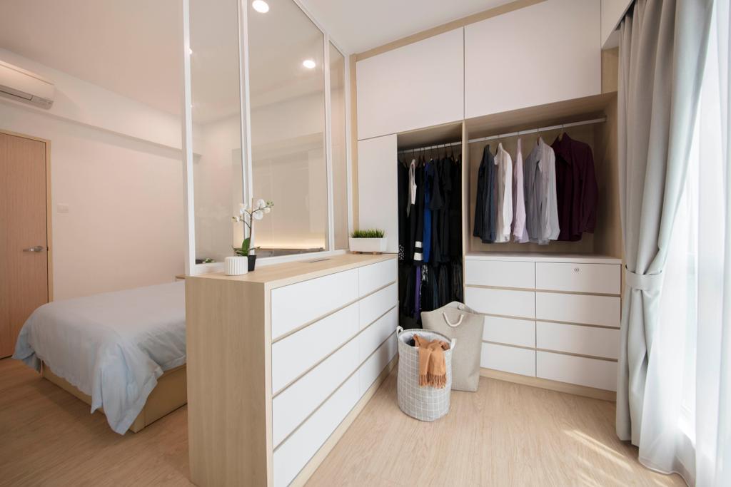 Scandinavian, Condo, Bedroom, Chantilly Rise, Interior Designer, The Roomakers, Wardrobe, Walk In Wardrobe
