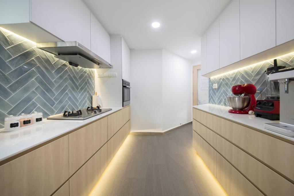 Scandinavian, Condo, Kitchen, Chantilly Rise, Interior Designer, The Roomakers